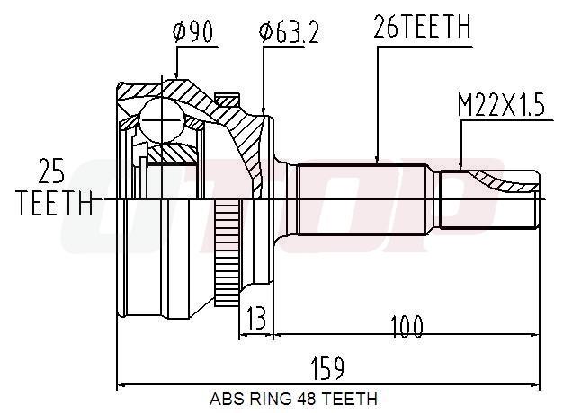 Daihatsu Camshaft Position Sensor Com